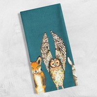 Forest Animals Tea Towels
