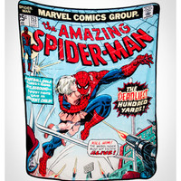 Spider-Man Comic Cover Fleece Blanket