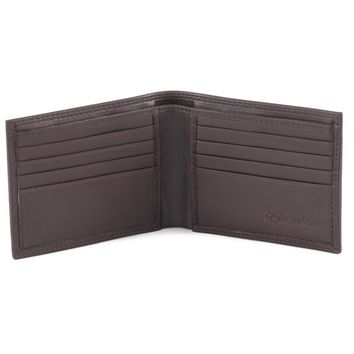 300720-BR Slim Bifold Leather Wallet in Brown | Style n Craft
