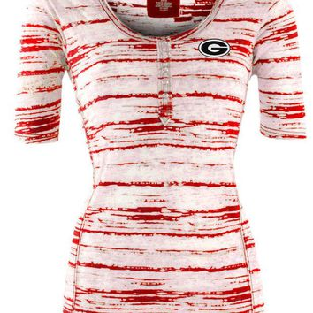 DCCKG8Q NCAA Georgia Bulldogs Antigua Womens Intent Red Multi Shirt