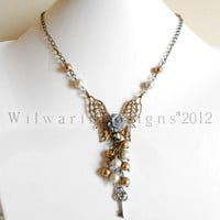 KEY to my DREAM OOAK Vintage Steampunk Inspired Necklace by WilwarinDesigns