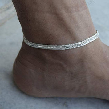 Ankle bracelet,Silver Anklet,Anklet,gypsy foot jewelry,indian anklet,belly dance indian jewelry,bells chain anklet,ethnic indian anklet