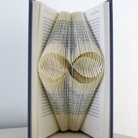 Valentines Day Gift - Infinity - Boyfriend Gift - Anniversary -  Forever - Paper Anniversary 1st Wedding  - Folded Book - Paper Art