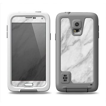 The White Marble Surface Samsung Galaxy S5 LifeProof Fre Case Skin Set