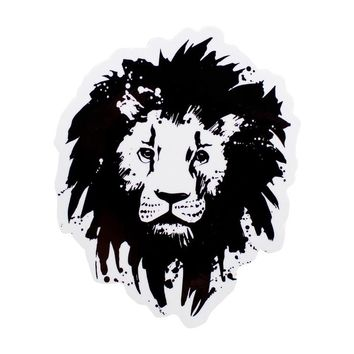 Lion Die Cut White Sticker