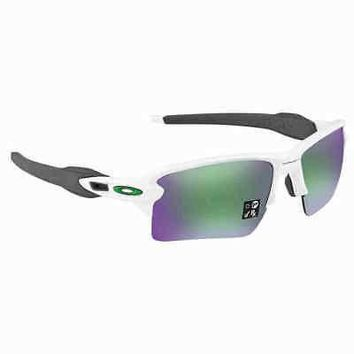 OAKLEY Flak 2.0 XL Prizm Jade Rectangular Sunglasses OO9188-92