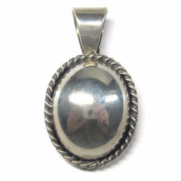 Vintage Mexican Sterling Dome Pendant