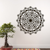 Vinyl Decals Mandala Yoga Studio Wall Decal Bedroom Sticker Ornament Moroccan Pattern Namaste Bohemian Home Decor Boho Bedding   T98