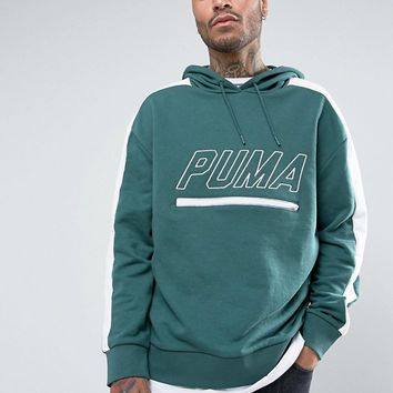 Puma Vintage Terry T7 Hoodie In Green Exclusive to ASOS at asos.com