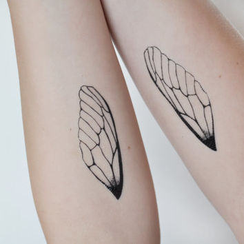 Insect Wings Temporary Tattoo, Tattoo Temporary, Nature Art, Insect Wing Illustration Large Temporary Tattoo Dragonfly Wing Temporary Tattoo