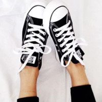 Converse All Star Adult  Sneakers Low-Top Leisure shoes Black