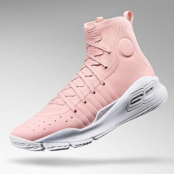 "Under Armour Curry 4 ""Flushed Pink"" Basketball Shoes"