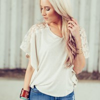 The Alex Lace Shoulder Blouse