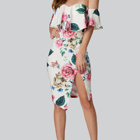 Flower Girl Printed Midi Dress