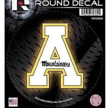 "Appalachian State Mountaineers 4"" Round Decal Bumper Sticker University"