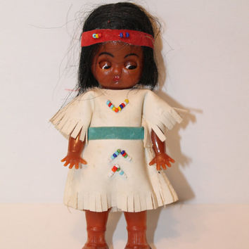 small Vintage Native American Doll clothing Indian doll Vinatge doll toy