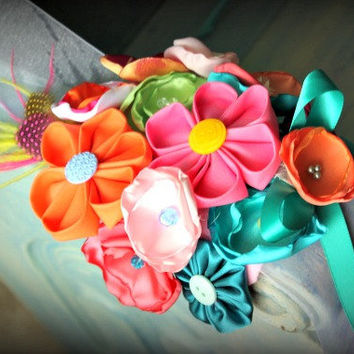 Flower Sash in Neon Colors for Maternity, Wedding, Pregnancy Photo Prop, Flower Girl or Prom