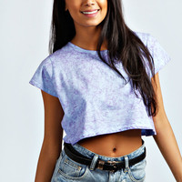 Amber Boxy Acid Wash Crop Top