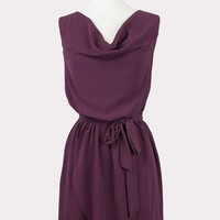 Berry Tart Draped Dress