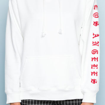 Christy Los Angeles Embroidery Hoodie - Embroidery - Graphics
