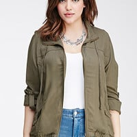Drawstring-Collar Jacket