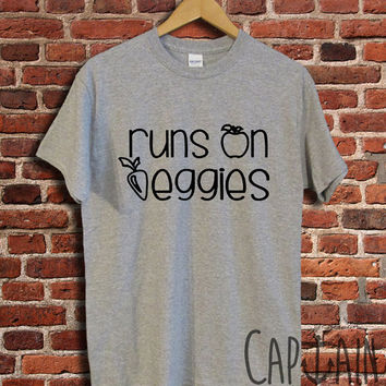 Runs on veggies shirt veggie unisex tshirt