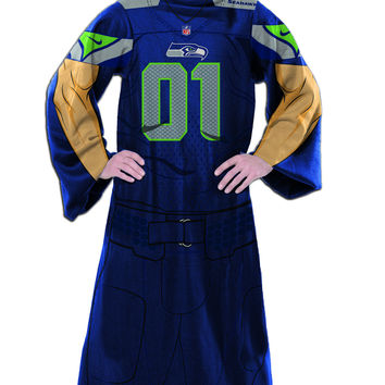 "Seahawks  """"Uniform"""" Adult Fleece Comfy Throw"