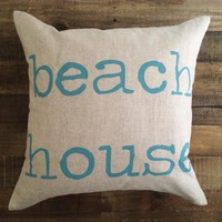 Maka Sea - Beach House Pillow / Turquoise