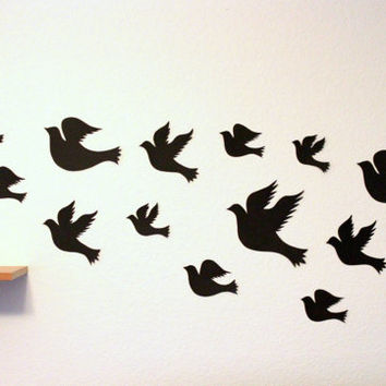Black Birds,Bird Wall art,Bird Hangings,Bird wall decor,Paper birds,Baby Shower,Wedding Decor,Flying Birds