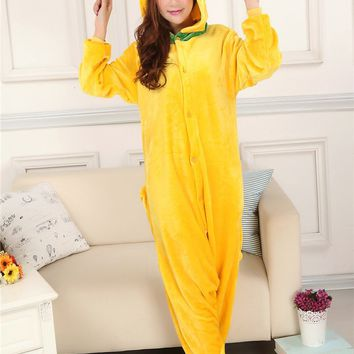 New Adult Animal Pluto Pajamas Set Sleepsuit Children Yellow Dog Onesuits Sleepwear Unisex Pyjamas