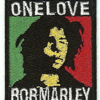 Bob Marley Iron-On Patch One Love Logo