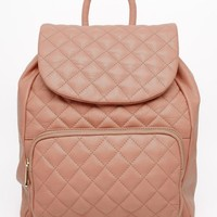 Urbancode | Urbancode Leather Quilted Backpack at ASOS