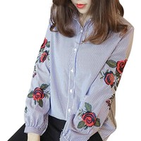 Floral Embroidery Blouse