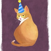 """Cat in a Hat"" - Art Print by Ashley Odell"