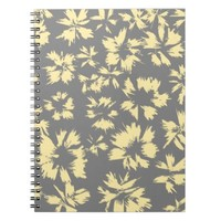 Gray and yellow floral pattern.
