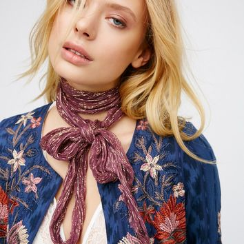 Free People Fools Gold Lurex Skinny Scarf