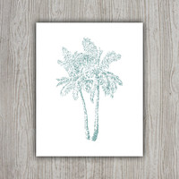Palm Tree Decor, Tropical Print, Summer Wall Art, Palm Print, Tropical Decor, Summer Wall Decor, Palm Tree Print, INSTANT DOWNLOAD