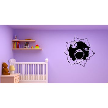 Wall Decal Space Astronaut Planets Universe Spacesuit Kids Room Vinyl Sticker (ed1455)