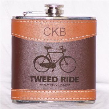Two-Tone Leather Flask (Personalized)