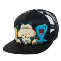 Pokemon - Psyduck Snorlax Togepi Group Trucker Hat