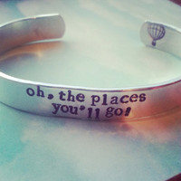 Dr. Seuss, Oh, The Places You'll Go! Hot ballon stamped inside  made from aluminum 1100, hand stamped