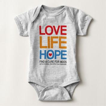 MDDS awareness one-piece, find a cure Baby Bodysuit