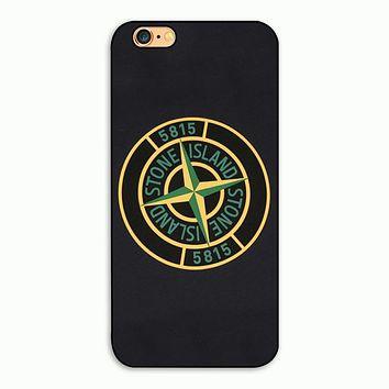 Top Seling Stone island navy BLACK Pattern plastic Cell Phone cover case for Apple iphone 4 4S 5 5S 5C 6 6S Plus 7 7plus