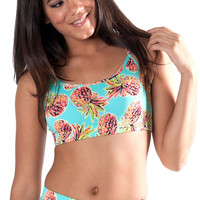 Pineapple Kiss Sports Bra
