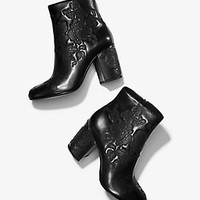 Claire Embossed-Leather Ankle Boot | Michael Kors