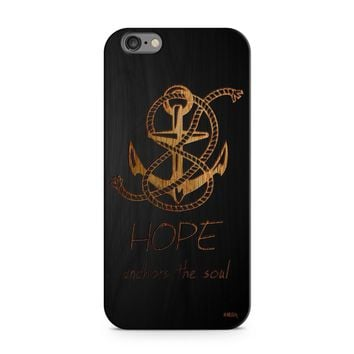 Black Bamboo - Hope Anchors the Soul Phone Case