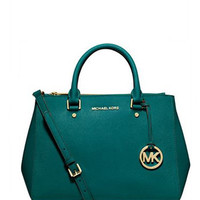 Michael Michael Kors Sutton Medium Saffiano Leather Satchel