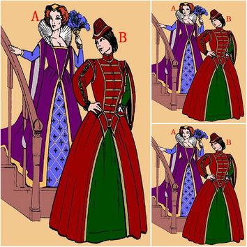 History!Customer-made Luxs Vintage Costumes Renaissance Dresses Steampunk dress Gothic Cosplay Halloween Dresses C-1084