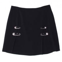 Versus Black Safety Pin Skirt