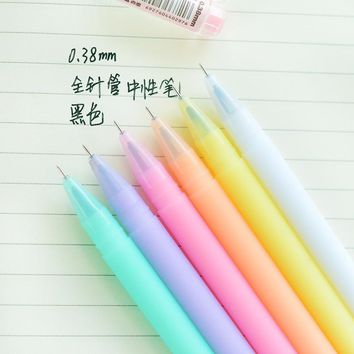 Jelly gel ink pen Crystal love 0.38mm black lapices pens